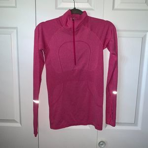 Lululemon Pink Swiftly Tech LS 1/2 Zip Pullover 6